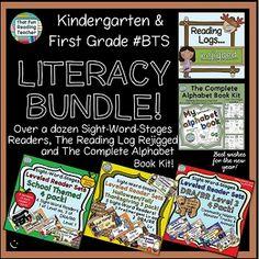 #1stGrade #Kindergarten Literacy Bundle - 15 products included! #SaveWithBundles