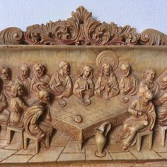 Quirky Plasticine The Last Supper Wall Plaque Food Icon Png, Food Icons, Religious Icons, Religious Art, Religion In Japan, Wood Furniture Legs, Home Altar, Aztec Art, Last Supper