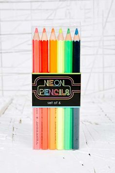 Neon Pencil Pack at Urban Outfitters