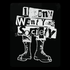 Tees Punk - I don't want your society - Anarchy Tote Bag Hipster Grunge, Grunge Look, 90s Grunge, Grunge Outfits, Grunge Style, Soft Grunge, Grunge Art, Riot Grrrl, Badass Aesthetic