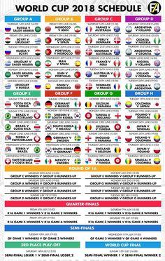 World Cup 2018 Schedule
