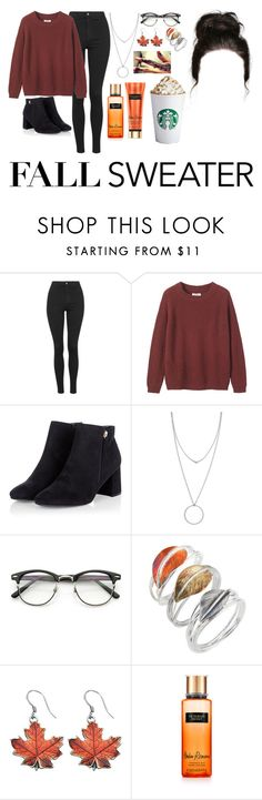 """""""fall sweater"""" by ms-prettymama ❤ liked on Polyvore featuring Topshop, Toast, Botkier and Caroline Royal"""