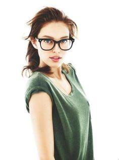 9a8f31eca6d cute girl in oversized glasses  lt 3 Emily Didonato