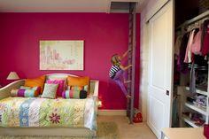 "Amazing idea: Hidden indoor ""treehouse"" above a kid's room in Austin, Texas home."