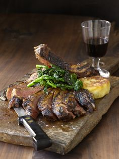 Dry Rubbed Bone-In Rib Eye, from Anne Burrell's Cook Like a Rock Star cookbook, available at Food Network Store for $19.49
