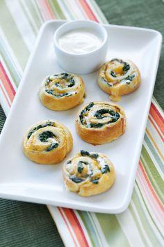Spinach and Cheese Spirals Recipe   Hidden Valley®