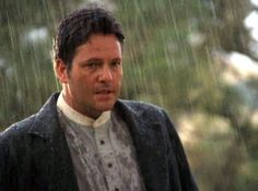 """Dale Midkiff in """"Love Comes Softly""""-- This scene in the rain is just so sweet."""