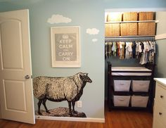 hmm, changing table in the closet. good idea, since I never use it anyway!