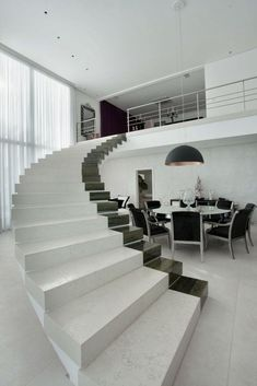 Modern Staircase Design For Your Home - MeteEkmekci Staircase Design Modern, Home Stairs Design, Interior Stairs, Home Interior, Modern Design, House Design, Interior Design, Interior Modern, Stair Design
