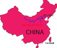 This map shows the vastness of the Great Wall--over 4000 miles in total.