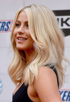 medium length hair blonde straight curled in at the ends - Google Search