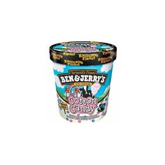 Nosh or Not? Ben Jerry's Cotton Candy Ice Cream ❤ liked on Polyvore featuring food, food and drink, fillers, comida and food & drink