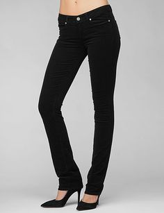 Paige Denim - Skyline Straight - Black Overdye  I've tried on paige denim and they look great on!