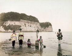 横浜・本牧の潮干狩り(1880年代)