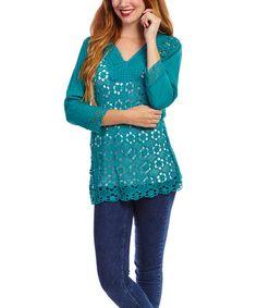Look what I found on #zulily! Jade Crochet V-Neck Top #zulilyfinds