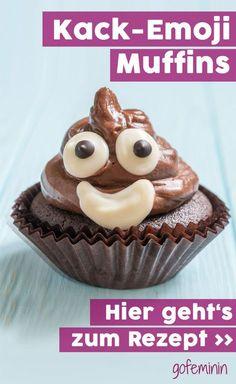 Dieses Kack Emoji Cupcake ist der Knaller!!! Das einfache Rezept findet ihr im Artikel. Viel Spaß beim Nachbacken!