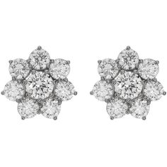 NADRI CZ Flower Stud Earrings ($25) found on Polyvore featuring women's fashion, jewelry, earrings, rhodium, post earrings, cubic zirconia stud earrings, flower earrings, nadri and cz jewellery