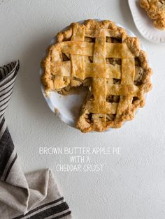 Epic Brown Butter Apple Pie with a Cheddar Crust just in time for Thanksgiving from @SpoonForkBacon