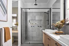 Barcelona 27 - Minta Estate / Projects / Polytec Kitchen Splashback Tiles, Raked Ceiling, The Perfect Getaway, Boutique Homes, Display Homes, Modern Bathroom Design, Open Plan Living, Double Vanity, Building A House