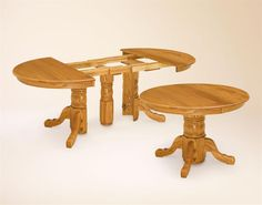 Amish Split Pedestal Dining Table - but not in oak