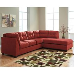 Ashley/Benchcraft Maier - Sienna 2-Piece Sectional w/ Sleeper Sofa & Right Chaise