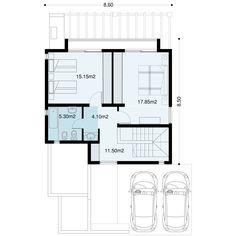Casa Verbenas   Proyecto ya ! Small Villa, Villa Plan, Usa House, Floor Layout, Storey Homes, Townhouse, Facade, House Plans, Sweet Home