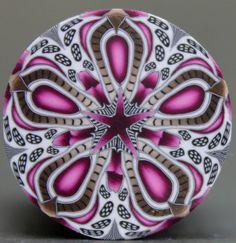 Circle Kaleidoscope Polymer Clay Cane 'Complicate' by ikandiclay