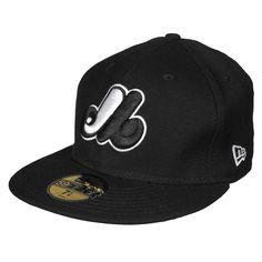 440c7291 Montreal Expos Authentic Fitted Mlb Baseball Cap (black-white) Mlb Baseball  Caps,