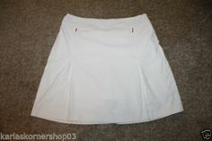 Nike Golf Womens Fit Dry White Tennis/ Golf Skort Size 10