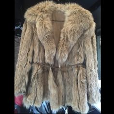 Real Fox Fur Coat  Beautiful Real Fox Fur Coat. Excellent Condition. Oleg Cassini Jackets & Coats