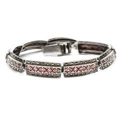 Srebrna bransoletka z wyjątkowymi markazytami - Biżuteria srebrna dla każdego tania w sklepie internetowym Silvea