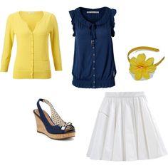 Yellow  Navy Blue