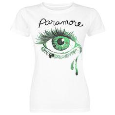 """Paramore """"Crying Eye"""" -girlie-paita, 100% puuvillaa."""