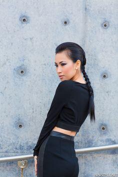 Unicef In Nini Leather Pencil Skirt | Nini's Style