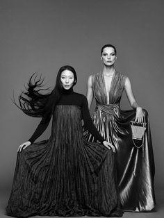 Yiqing Yin and Daria Werbowy by Nico for Lancôme 2014