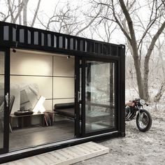 Want your own 20' x 8' bespoke cargotecture? Option A; Secret Lair Here is our Glasshaus Container hidden in the middle of the city under the Bloor West bridge Contact us with your request Laura@glasshausliving.com https://instagram.com/p/BDA48XXx0ZA/