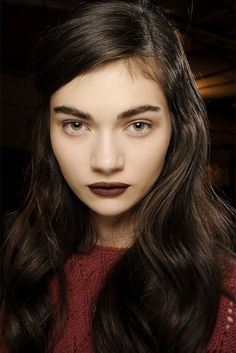 Dark Brown lips for fall.