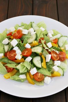 Zeleninový salát Caprese Salad, Cobb Salad, Salad Recipes, Chicken Recipes, Dinner, Vegetables, Vegetable Salads, Healthy, Food