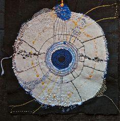 Stunning stitch work by Junko Oki .