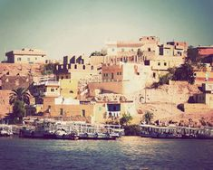 Egyptian homes near the Islands of Philae by Journey's Eye Photography