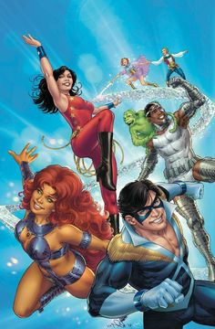 The Original Teen Titans By Nicola Scott