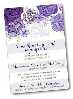 Floral Shimmer Vow Renewal Invitation                                                                                                                                                      More