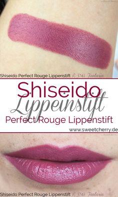 Der Shiseido Perfect Rouge Lippestift in der Farbe RS745 Fantasia ist ein schöner rosenholzfarbener Lippenstift mit einem Hauch Pflaume. Er eignet sich gut im Alltag. Mehr Bilder auf meinem Beauty Blog Sweet Cherry.