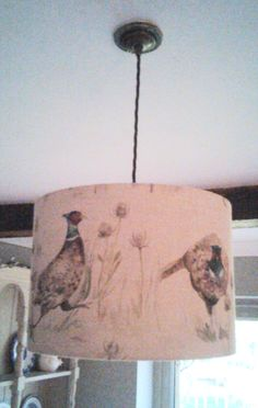 Pheasant Drum Lampshade 30cm by TheLitttleBrickHouse on Etsy