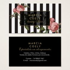 Hair stylist beauty salon gold vintage floral business card reheart Image collections