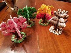 Easy Perler Bead Patterns, Melty Bead Patterns, Perler Bead Templates, Diy Perler Beads, Perler Bead Art, Beading Patterns, Hama Beads Kawaii, Hamma Beads 3d, Peler Beads