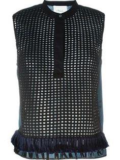 fringed perforated top £425 #Farfetch #newarrivals #3.1-Phillip-Lim
