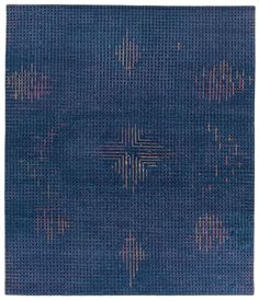 French designer Inga Sempé gives new meaning to classic Persian rugs with her Meteo collection for Golran. The weft presents a faded effect, which allows a geometric pattern to emerge through the blurred lines that's done by skilled artisans in Nepal. The Meteo collection has three designs that are each available in three different colors.