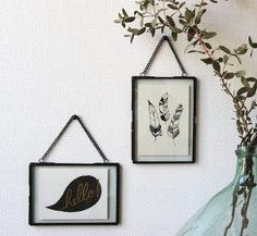 mathûvû décoration cadre noir Hübsch verre lyon