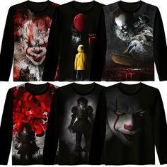 Cheap Movie & TV costumes, Buy Directly from China Suppliers:Cosplaydiy Stephen King It Pennywise Cosplay Costume T-Shirt Adult Summer Scary Joker Long Sleeves T-Shirt